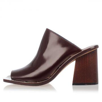 Leather Mule 8,5 cm Heel