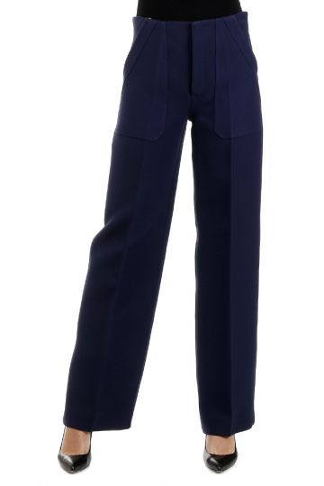 Wool and Silk Blend Pants