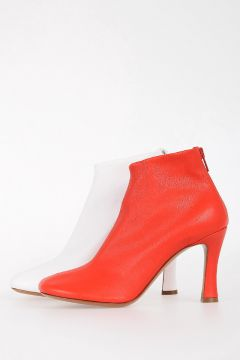 8cm Leather ankle Boots