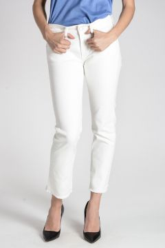 Cropped Fringed Jeans 18 cm