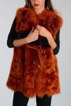 Shearling Sleeveless Jacket