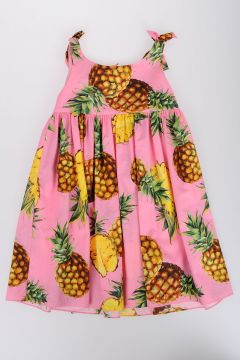 Ananas Print Cotton Dress