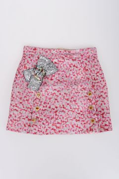 Jacquard Skirt With Crystals