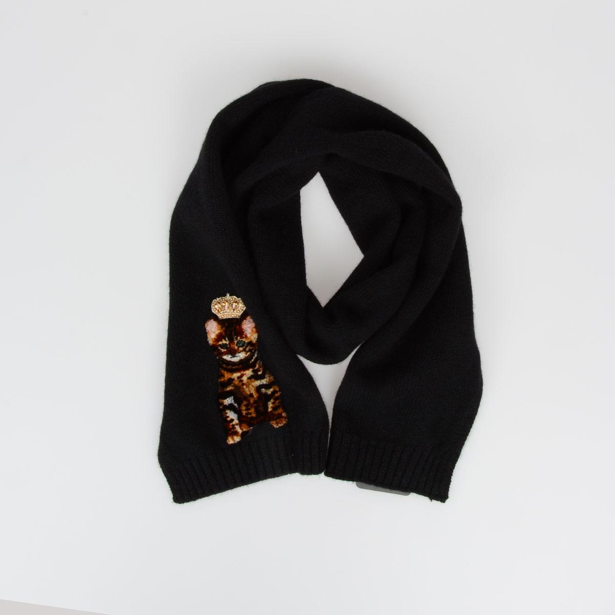 Dolce   Gabbana KIDS Unisex Bambino Sciarpa in Lana e Cashmere 130 x ... ad3eb5f3019