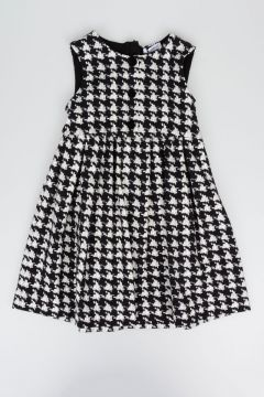 Pied De Poule  Stretch cotton Dress