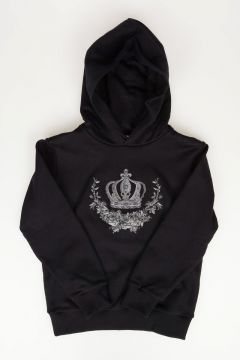 Crown Embroidery Sweatshirt
