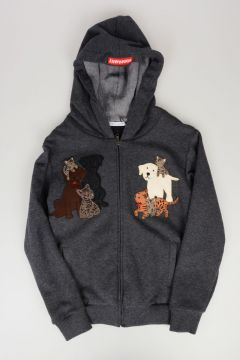 Animals Embroidered Sweatshirt