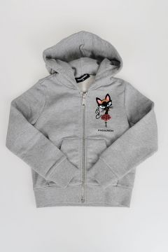 CAT Printed Hooded Sweatshirt