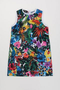 Tropical Print Dress