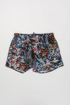 Tattoo Print Swim Shorts