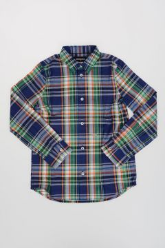 Checked Cotton Poplin Shirt