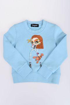 Printed Crewneck BAMBOLINA Sweatshirt