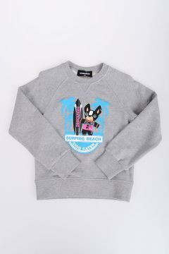 Printed Crewneck SURFING BEACH Sweatshirt