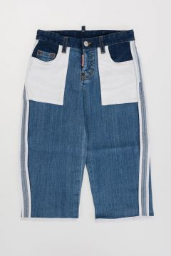 Bicolor Stretch Denim Jeans