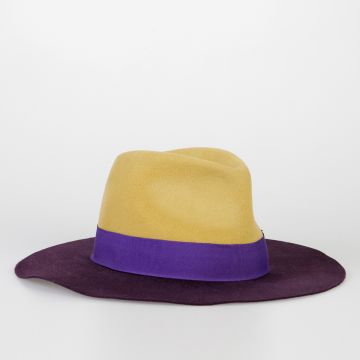 Rabbit Fur Felt Fedora Hat