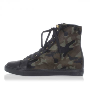 Pony skin camouflage High top Sneakers