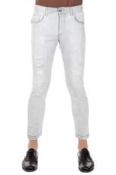 Jeans Capri in Denim Stretch Destroyed 16 cm