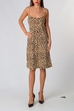 KATE MOSS Vestito Leopardato In Seta