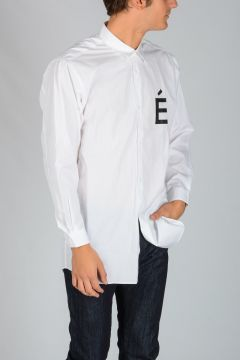 STUDIO Cotton Shirt with Printed Logo