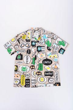 Popeline Comics Printed Shirt