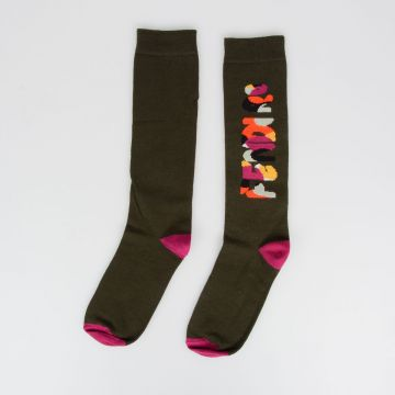 Socks with Logo Intarsia