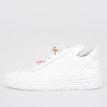 Woven Leather TWIST Low Top Sneakers