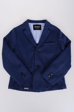 Cotton Blend Single-breasted Jacket