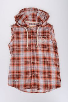 Cotton Poplin Sleeveless Shirt