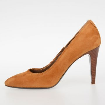 9cm Suede Leather GIORGIA Decolletes