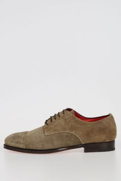 Suede Leather GO RAIN TAUPE Derby Shoes