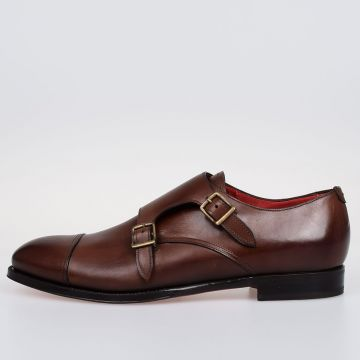 Leather CAMBRIDGE Double Monk Strap Shoes
