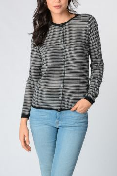 Cashmere Striped Cardigan