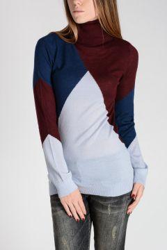 Geometric Intarsia Cashmere Sweater
