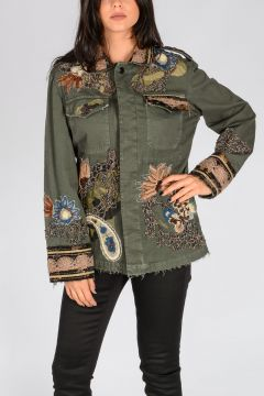 Embellished Stretch Cotton Jacket