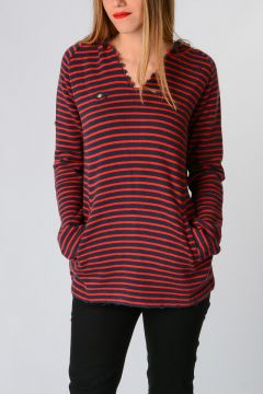 Knit Striped Sweatshirt