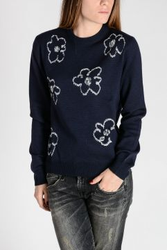 FLOWERS Embroidered Virgin Wool & Cotton Sweater