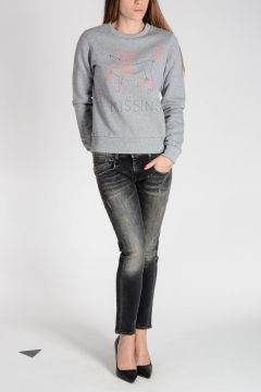 Embroidered POODLE Cotton Sweatshirt