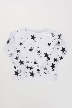 Stretch Cotton Star Printed Sweatshirt