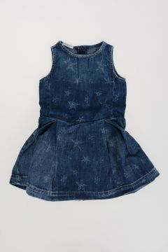 Vestito in Denim Stampa Stelle