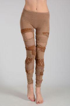 Cotton Blend Knitted Leggings