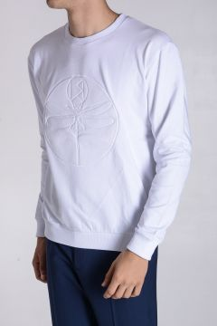 DRAGONFLY Embroidered Stretch Cotton Sweatshirt