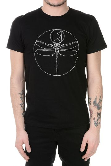 T-shirt CUSTOM DRAGONFLY Stampata