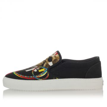 Slip on in Canvas Stampa Teschio