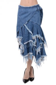 StoneWash Denim Skirt