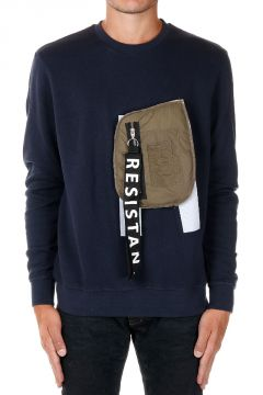 Detachable Pocket Round Neck ROGUE Sweatshirt