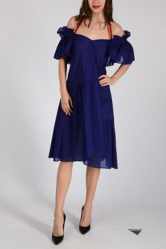 Cotton Trumped Frilled Dress