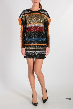 Multicolor Sequinned Dress