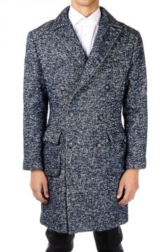 HOMME Cotton and Wool double breasted Coat