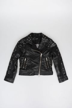 JAKIOO Studded Leather Jacket