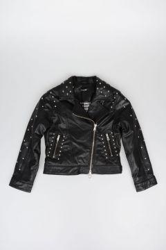JAKIOO Studded Leather Jacket